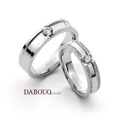 Dabouq Studio Couple Ring - DR0002 - Simple+