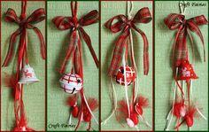 Craft Fairies: Χριστουγεννιάτικες Μπομπονιέρες ♥ Christmas Is Coming, Christmas Time, Christmas Ornaments, Homemade Christmas Decorations, Holiday Decor, Xmas Crafts, Plant Hanger, Blog, Wedding