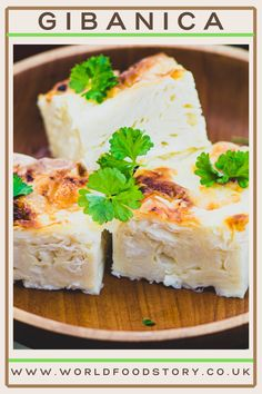 """Gibanica is a dish of traditional Serbian cuisine. It is so widespread in Serbia that we can call it one of the symbols of Serbian cuisine.This is a very simple pastry made from filo dough, white cheese and eggs. Sometimes referred to as a guzvara, because of the way it is prepared. For Vuk Karadzic, a Serbian philologist and linguist, """"gibanica is a pie where soft cheese is mixed with milk and eggs and put between dough sheets. Gibanica Recipe, Keto Recipes, Dessert Recipes, White Cheese, Good Food, Yummy Food, Milk And Eggs, Serbian, World Recipes"""