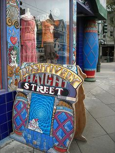 """Check out this famous """"Hippy Street"""" in SF  Haight Asbury"""