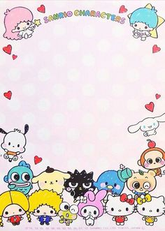 Sanrio Characters memo paper