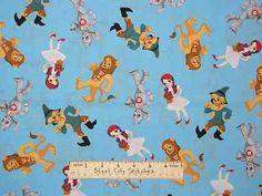 The Wizard of oz Baby Nursery Dorothy Lion Tin Man Scarecrow Cotton Fabric Yard | eBay