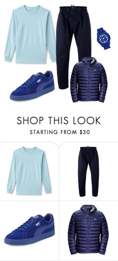 """School days 😛"" by kingdiorx1 ❤ liked on Polyvore featuring Lands' End, Dsquared2, Puma, L.L.Bean, adidas, men's fashion and menswear"