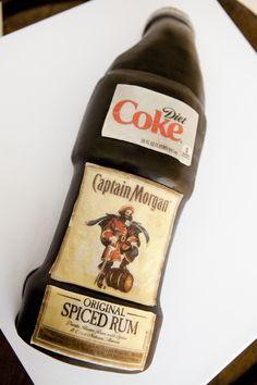 Diet Coke Captain Morgan Spiced Rum Cake Wedding Sweets, Wedding Cakes, Captain Morgan, Rum Cake, Spiced Rum, Cake Images, Diet Coke, Cute Cakes, Wedding Coordinator