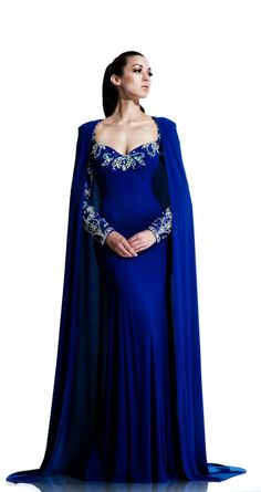 Johnathan Kayne - Style 553 - Gown with detachable cape