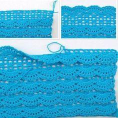Beau Crochet, Crochet Diy, Crochet Skirts, Love Crochet, Crochet Clothes, Crochet Ideas, Crochet Tutorials, Crochet Diagram, Crochet Chart