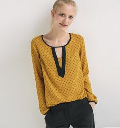 Les blouses unies, imprimées et les chemisiers pour femme sont sur la  boutique en ligne Promod : mode femme ✓Livraison et Retour gratuits en  boutique.