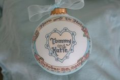 To HAVE and To HOLD, WEDDING Keepsake Personalized Ornament, Handpainted, Totally Original Design, Without Display Stand by BarbziesCustomArts on Etsy