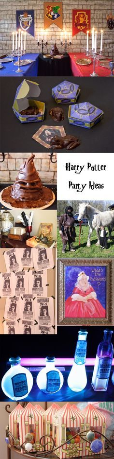 Ideas for throwing a Harry Potter themed party. From Honeydukes candy printables to sorting hat cakes, everything you need to plan the perfect Harry Potter party.