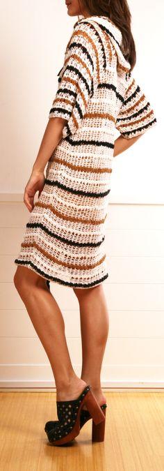 ETOILE ISABEL MARANTCROCHET HOODED DRESS