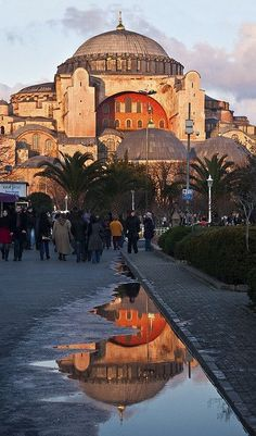 Hagia Sophia, a former Greek Orthodox patriarchal basilica (church), later an imperial mosque, and now a museum. Instanbul, Turkey
