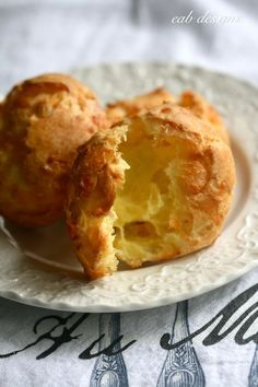Gougères -are light & airy and wonderful with a glass of wine. . . Make ahead and freeze appetizers