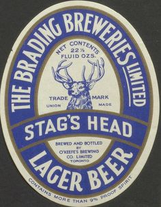 Stag's Head Lager -9%alcohol!