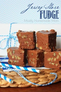 Jersey Shore Fudge - A classic stove top fudge recipe loaded with chopped walnuts. One of my favorite treats to enjoy while at the Jersey Shore!