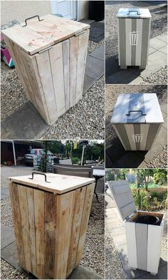 Here we have the creative designing work of the waste bin for your house garden. If your house garden does not have an awesome waste bin piece work then choosing with this perfect access of the pallet bin will come out to be a catchier thing for your house outdoor decoration.