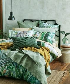 Bed Bath N' Table stocks an exclusive range of luxury quilt covers to suit any taste. Available in a variety of styles and colours to choose from. Flat Sheets, Bed Sheets, Jungle Room, Single Quilt, Dreams Beds, Stylish Beds, Make Your Bed, Bed Styling, Bedroom Inspo