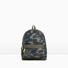 c2c714f70 Image 1 of CAMOUFLAGE PRINTED BACKPACK from Zara Bolsos Camuflados