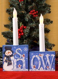 Snow Candle Blocks