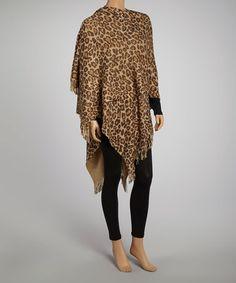 This Metallic Leopard Wrap is perfect! #zulilyfinds