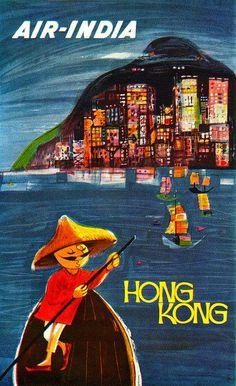 Air India to Hong Kong, by S.N. Surti. via Sandi Vincent