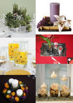 Unusual centrepieces... especially the daisies in yellow jello. Could probably do it with agar but might be a fair bit more expensive...