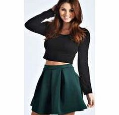 boohoo Katty Scuba Box Pleat Skater Skirt - green Structured scuba fabric gets added definition with this skater skirts box pleat design, making it a firm favourite for fit and flare shape lovers! We love how easy it is to wear with a crop top , cour http://www.comparestoreprices.co.uk/skirts/boohoo-katty-scuba-box-pleat-skater-skirt--green.asp