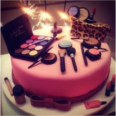 Happy birthday birthday cake make up beauty cake   thought for Kayleigh