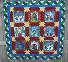 christmas quilts | Christmas Panel Quilt « Elmo's Place Blog