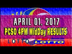 PCSO MidDay - 4PM Results April 01, 2017 (SWERTRES & EZ2) Lotto Results, Lottery Tips, April 25, February, Positive Affirmations, Online Business, Stress, Positivity, Youtube