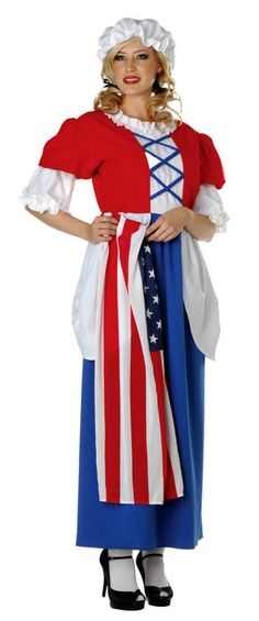 Adult Betsy Ross Costume - Browse All Women's Costumes