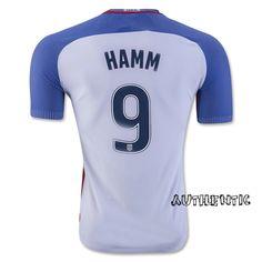 50f912274 2016 17 USA Home Mia Hamm Men s Authentic Soccer Jersey ( 9) Mia