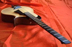 Archtops are in general very traditional and thus conservative in their designs. But with new woods, construction techniques, and playing styles, this guitar Jazz Guitar, Guitar Parts, Music Guitar, Cool Guitar, Acoustic Guitar, Home Music, Custom Electric Guitars, Unique Guitars, Archtop Guitar