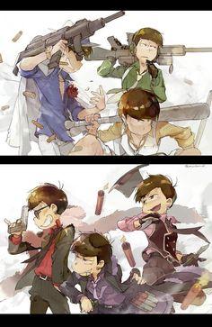 Osomatsu San Doujinshi, Video Game Anime, Dark Anime Guys, Ichimatsu, Witch Art, Anime Poses, Naruto Art, Art Reference Poses, Haikyuu Anime