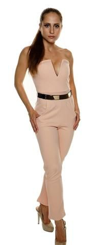 Briana Peach Plunge 'V' Neck Pocket Belt Detail Bandeau Jumpsuit Perfect party wear Bodycon fit jumpsuit Bandeau style - added for effect Low plunge 'V' metal bone neckline - added for effect Bandeau Jumpsuit, Fitted Jumpsuit, Peplum Dress, Casual Summer Dresses, Playsuits, Party Wear, Rompers, V Neck, Clothes For Women