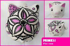 Chanchitos alcancía, también conocidos como marranitos, cerditos o puerquitos decorados. Hechas de cerámica, decoradas con pinturas acrílicas y barniz ...