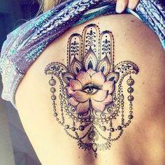 Hamsa hand back tattoo . - Hamsa hand back tattoo - Hamsa Hand Tattoo, Ganesha Hamsa Tattoo, Hand Tattoos, Wörter Tattoos, Dream Tattoos, Future Tattoos, Love Tattoos, Beautiful Tattoos, Body Art Tattoos