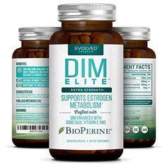 Extra Strength DIM 250mg - Plus Vitamin E & BioPerine | #1 Estrogen Blocker #EvolvedOrganics