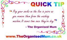 TheOrganisedMum.co.uk | Quick Tip #2
