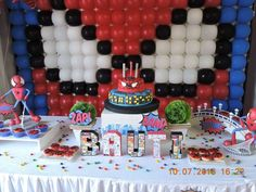 Take a look at this awesome Spiderman birthday party. The balloon backdrop is amazing and just look at the cake! See more party ideas and share yours at CatchMyParty.com