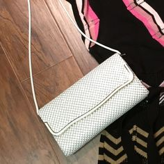 Vintage La Regale small CROSSBODY purse La Regale bags are so classy and elegant.. This white metal mesh crossbody is beautiful.. The front of the bag is in excellent condition with one tiny minor scratch.. The back has some fading of color and inside has some stains but still a precious piece and only you will notice the few blemishes.. Please look at last pics for problem areas La Regale Bags Crossbody Bags