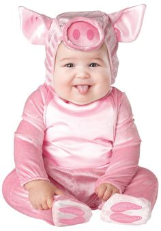 Infant Lil Piggy costume #Halloween #Animals