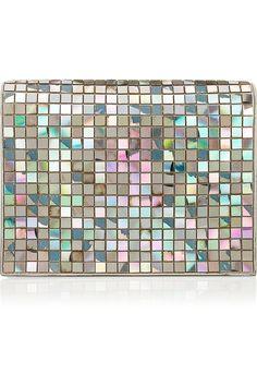 Maison Martin Margiela Embellished iridescent patent-leather clutch NET-A-PORTER.COM