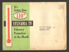 1957 Dealers Advertising Poster Sylvania TV Promotion of the Month 110 Portables