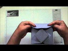 cardmaking video: Fancy Fold album-card with Dawn ... YouTube great card!!
