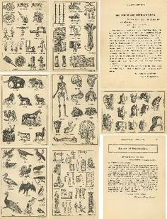 Free: Dicitionary Illustration pages Collage Sheet