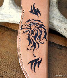 Tribal Eagle Leather Knife Sheath by GypsyPlaid on Etsy