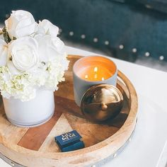 Is there a more pleasant combo than a candle and a beautiful bouquet? Soy Candles, Scented Candles, Candle Jars, How To Pronounce Hygge, Paddywax Candles, Dinner With Friends, Sweet Home, Bouquet, Curling