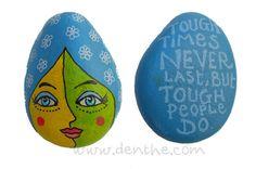 Painted rocks - denthe art