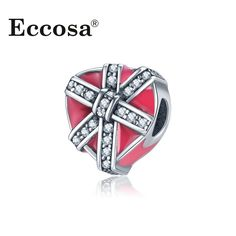>> Click to Buy << Eccosa New Arrival Big Hole Heart Bead Crystal Knot European Silver Plated Style For DIY Bracelet & Necklace Female Jewelry #Affiliate
