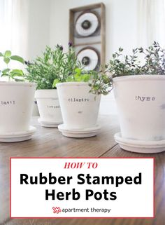 Here's how to bring your organization game up to speed this year. Try your hand at DIY labels with these stampled pots to create your own herb garden. Or pick from 10 other ideas on how to label absolutely everything.